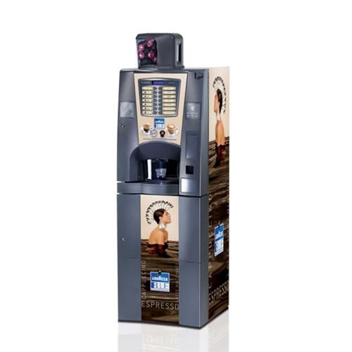 distributeur-machine-à café-BRIO-sur-socle-capsules-Lavazza